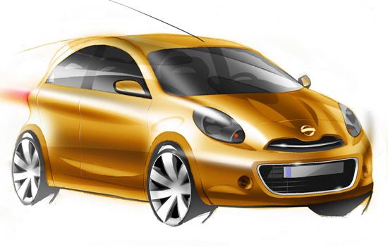 Nissan показа бъдещият Micra в скици