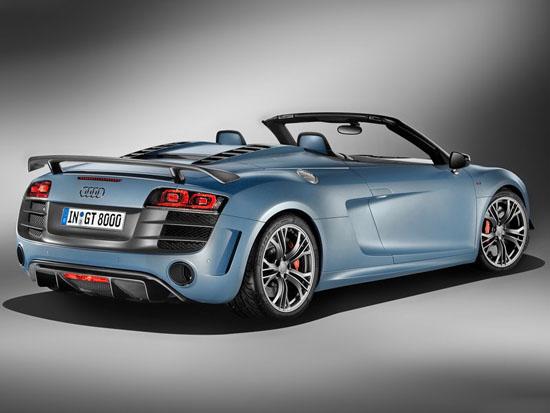 Адмирации за супер кабриолета Audi R8 GT Spyder