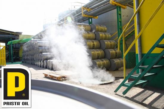 Производство на смазочни масла в Приста Ойл